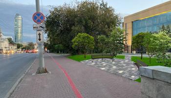 Разбить сквер взамен парковки на газоне