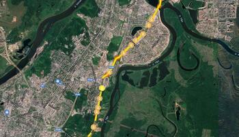 """Трамвайная ветка: """"Магистраль Север-Юг"""""""