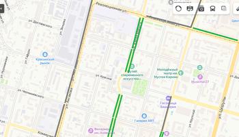 Тротуары и озеленение в центре