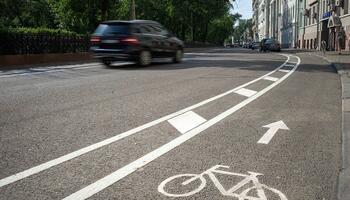 Велодорожки на проезжей части
