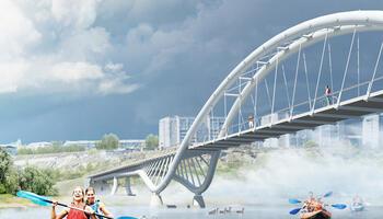 Вело-пешеходный мост через реку Белая