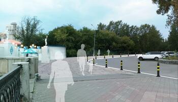 Тротуар от набережной к скверу А.Канделя